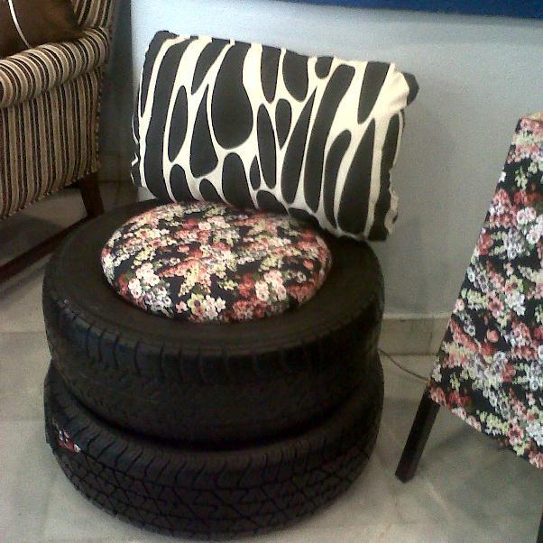 Decorando el hogar muebles hecho con llantas - Reciclar muebles usados ...