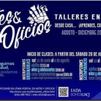 EN LÍNEA, TALLERES DE ARTES Y OFICIOS